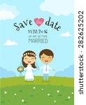 wedding invitation card...   Shutterstock .eps vector #282625202