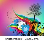 floral background for text | Shutterstock .eps vector #28262596