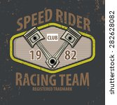 speed rider typographic with... | Shutterstock .eps vector #282628082