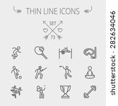 sports thin line icon set for... | Shutterstock .eps vector #282634046