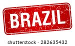 brazil red stamp isolated on... | Shutterstock .eps vector #282635432