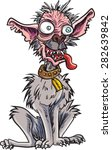 Cartoon Very Ugly Dog. Isolate...