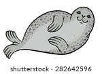 true seal or earless spotted... | Shutterstock .eps vector #282642596