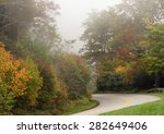 Small photo of The Blue Ridge Parkway runs the Crests of the Southern Appalachians