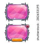 pink crystal panels  vector...
