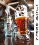 local microbrews  in a brewpub  ...   Shutterstock . vector #282654176