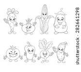 cartoon set of smiling...   Shutterstock .eps vector #282661298