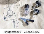 old vacuum tube with electric... | Shutterstock . vector #282668222