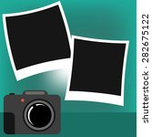 photo frame and the camera | Shutterstock .eps vector #282675122