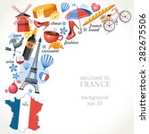 welcome to france romance... | Shutterstock .eps vector #282675506