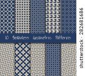 grunge seamless geometric... | Shutterstock .eps vector #282681686