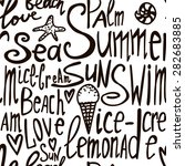 seamless pattern with summer... | Shutterstock .eps vector #282683885