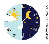 clock with day night concept... | Shutterstock .eps vector #282690422