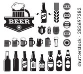 vintage craft beer  brewery... | Shutterstock .eps vector #282697382