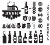 vintage craft beer  brewery...   Shutterstock .eps vector #282697382