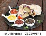falafel  middle eastern deep... | Shutterstock . vector #282699545