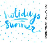 summer watercolor design.... | Shutterstock .eps vector #282699722
