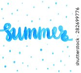 summer watercolor design.... | Shutterstock .eps vector #282699776