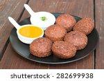 fresh vegetarian falafel with... | Shutterstock . vector #282699938