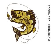 catching bass fish vector on a... | Shutterstock .eps vector #282700328