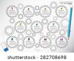 doodle style  gear... | Shutterstock .eps vector #282708698