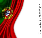 flag of portugal on white... | Shutterstock . vector #282709916