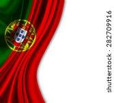 flag of portugal on white... | Shutterstock . vector #282709916
