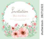 flower wedding invitation card  ...   Shutterstock .eps vector #282712322