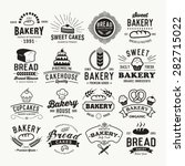 bakery logotypes set. retro... | Shutterstock .eps vector #282715022