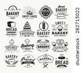 bakery logotypes set. retro... | Shutterstock .eps vector #282715022