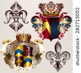 heraldic vector set of designs... | Shutterstock .eps vector #282715052
