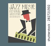 jazz music players with piano... | Shutterstock .eps vector #282721502