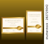 certificate vector template | Shutterstock .eps vector #282725042