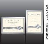 certificate vector template   Shutterstock .eps vector #282725126