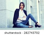 high fashion portrait of young... | Shutterstock . vector #282743702