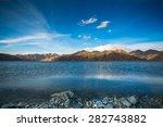 Lake Pangong At The China Indi...