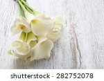 Bouquet Of White Calla Flowers  ...