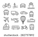 transport line  icons | Shutterstock .eps vector #282757892