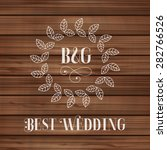 best wedding label with floral... | Shutterstock . vector #282766526