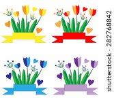 vector set of multicolored... | Shutterstock .eps vector #282768842