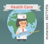 medicine doctor vaccine earth | Shutterstock .eps vector #282771956