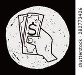 money doodle drawing | Shutterstock .eps vector #282773426
