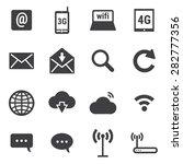 internet icons set | Shutterstock .eps vector #282777356
