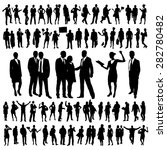 people silhouettes set   Shutterstock .eps vector #282780482
