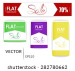 stickers at a discount sale.... | Shutterstock .eps vector #282780662