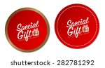 special gift stickers | Shutterstock .eps vector #282781292