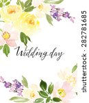 watercolor greeting card... | Shutterstock .eps vector #282781685
