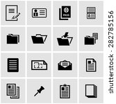 vector black document icon set. | Shutterstock .eps vector #282785156