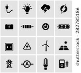 vector black electricity icon... | Shutterstock .eps vector #282785186