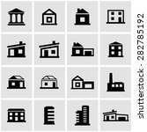 vector black buildings icon set. | Shutterstock .eps vector #282785192